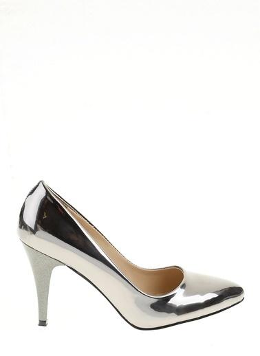 Derigo İnce Topuklu Ayakkabı Gümüş